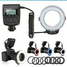Macro Ring Flash Light Lamp For Nikon Canon DSLR Camera 48 LED + 8 Lens Adapter