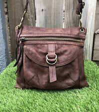 Fossil leather crossbody messenger shoulder bag  Brown Handbag