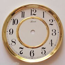 German made Hermle, 150mm Gold Coloured Trim with Round White Clock Dial