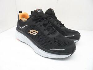 Skechers Men's D'Lux Walker Athletic Casual Oxfords Black/Orange Size 12M