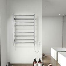Electric Towel Warmer Rack Brushed Nickel Stainless Steel 4+4 Heated Bars Towel