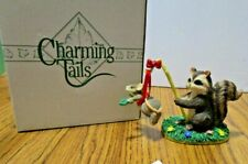 Fitz & Floyd Charming Tails 87398 Training Wings figurine. Handcrafted Sylvestri