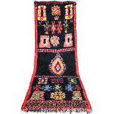 Vintage runner Beni Ourain authentic Moroccan Berber boujaad rug 8.8 FT X 2.6 FT