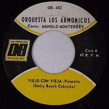 ORQUESTA LOS ARMONICOS: Cumbia En Llamas USA OB Latin  45 Manolo Monterrey