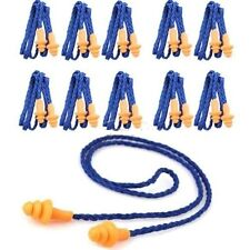 6X Reusable Safety Soft Silicone Corded Ear Plugs Hearing Protect Earplugs JS