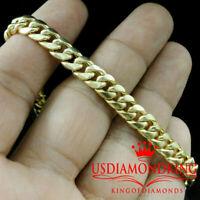 "Men's New 100% Real 10KT Yellow Gold Miami Cuban Curb Link Bracelet 5mm~8mm 7-9"""