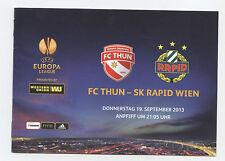 ORIG. PRG Europa League 13/14 FC Thun-SK Rapid Vienna!!! RARO