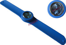 MONTRE ADULTE FEMME HOMME ICE BRACELET SILICONE SLAP / CLAP BLEU WATCH