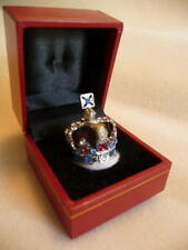 British Uk Royal State Miniature Crown of Queen Elizabeth in presentation case