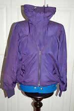 BNWT Full Circle Purple Double Zipped Bomber Summer rain Jacket Large Collar