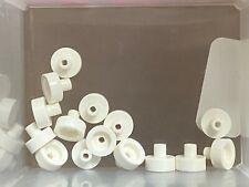 X200 LEGO ROUND PLATE 1X1 GLOW IN THE DARK WHITE NEW