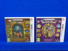 3DS PROFESSOR LAYTON x2 Azran Legacy + Miracle Mask Puzzle Games Nintendo PAL UK