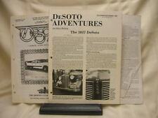 3 Booklets of 1987-88 Desoto Adventures Desoto Days Dodge 1925-30 Motor Tune-up