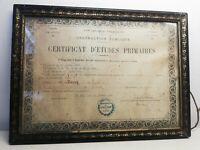 Ancien cadre bois Doré 35 sur 25,5 cm vintage XXème Siècle certificat 1892