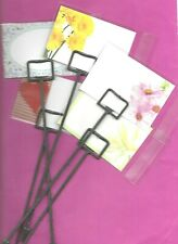 5 FLORIST CARD PACKS - MIXED BLANK MESSAGE CARDS, CARDETTES (PICKS) & CELLO BAGS