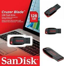SanDisk Cruzer Blade 128GB USB 2.0 Flash Drive (Black/Red) - Retail Blister Pack