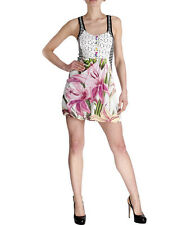 DESIGUAL STRIPED AND FLORAL EMBROIDERED PUFFBALL PANELED DRESS PROTOCOL-L,14-UK
