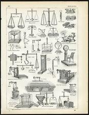 Antique Print-BALANCE-SCALE-BASCULE-Larousse-1897