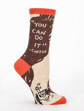 Women's Crew socks, You Can Do It Coffee, Blue Q, Cotton, Novelty, Funny, Gifts