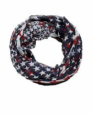D&Y Americana Infinity Scarf Distressed American Star Holiday Patriotic FLAG