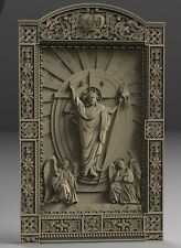 STL 3D Models # THRONE OF JESUS # for CNC Aspire Artcam 3D Printer