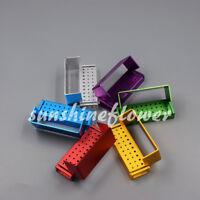 6 Pcs Aluminum Bur Holder 30 Holes FG RA Bur Burs Holder Dental Bur Block Blocks