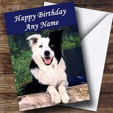 Border Collie Cane Personalizzato Compleanno Auguri Carta