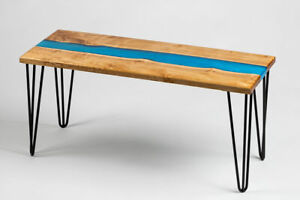 """36"""" x 18"""" Epoxy Resin Counter / Coffee Table Top Home office Furniture"""