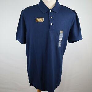 NWT The Foundry Supply Co. Men's Navy Blue Short Sleeve Polo Shirt Size XL Tall