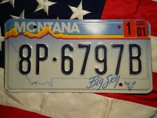 MONTANA license licence plate plates USA NUMBER AMERICAN REGISTRATION