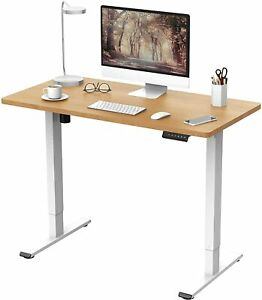 FLEXISPOT ELECTRIC STANDING DESK WITH MEMORY SMART PANEL MAPLE 120mmx80mm