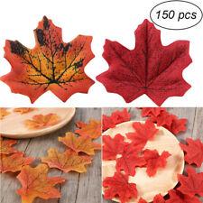 150PCS Fall Fake Silk Leaves Wedding Favor Autumn Maple Leaf Decor Decorations