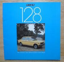 FIAT 128 1100 Saloons orig 1977 UK Mkt sales brochure