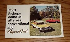 Original 1975 Ford Truck Conventional & SuperCab Foldout Sales Brochure 75