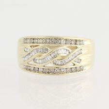 Diamond Ring - 10k Yellow & White Gold Anniversary Baguette Cut .50ctw