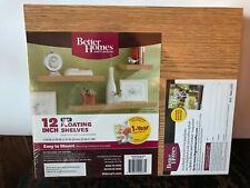 """Brand New Better Homes & Gardens 12"""" Floating Shelves - Oak"""