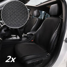 Universal 2x Black Ice Silk Car Seat Cover Apron Cushion Protector Breathable
