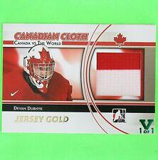 DEVAN DUBNYK 2011-12  CANADIAN CLOTH JERSEY GOLD 1/1   #CCM06   Team Canada