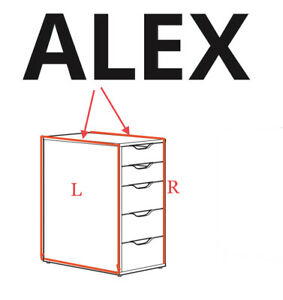 (1) x IKEA ALEX side of the drawer Unit replacement part left or right