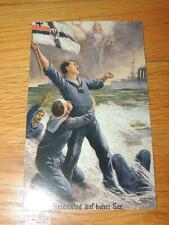 Imperial German Wwi Postcard Heldensod auf hoher See