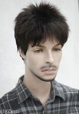 Man Short wig Men Male Daily Wear Hair Full Wig Black Blonde Brown wigs