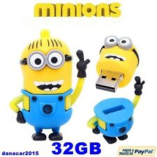 PEN DRIVE PENDRIVE DE UN MINION GRU MI VILLANO FAVORITO 3 BOB 32 GB MEMORIA USB