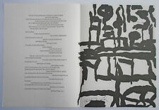 PHILIP GUSTON lithographs 1967 IN MEMORY OF MY FEELINGS Frank O'Hara MOMA