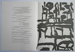 PHILIP GUSTON lithograph 1967 IN MEMORY OF MY FEELINGS Frank O'Hara MOMA