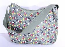 Disney Mickey Mouse Green Nylon Fabric Zip Top Purse