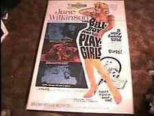 BELLBOY & PLAYGIRLS MOVIE POSTER '62 JUNE WILKINSON 3D