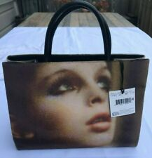 $1095 AW18 MOSCHINO COUTURE JEREMY SCOTT X CARLO MOLLINO ART WORK VELVET SHOPPER