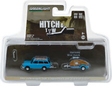 Greenlight Hitch & Tow 14 1961 VW Squareback Wagon with Tear Drop Trailer