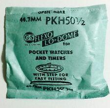 NOS GS PKH50 1/2 Flexo Lo-dome Pocket Watch Crystal Germanow Simon Mach. Company