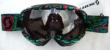 $110 Scott Womens Reply Ladies Green Freeze Ski Goggles Snow Roxy Smith Mirror